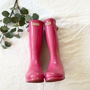 Woman's Size 7 Hunter Boots Original Kids Gloss